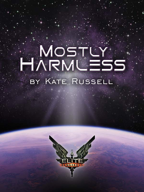 The cover of Elite: Mostly Harmless, designed by Heather Murphy