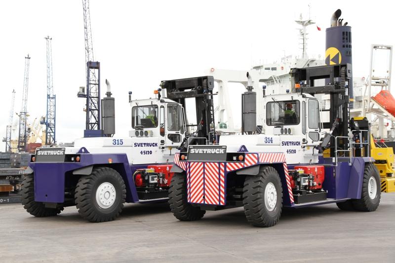 Rushlift Svetrucks at PD Ports, Teeport