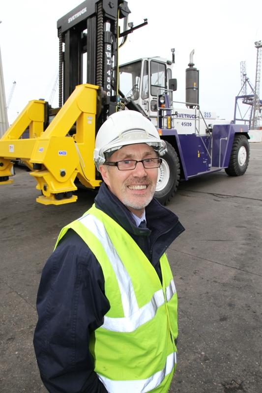 Rushlift's Ian Hunter at PD Ports, Teesport