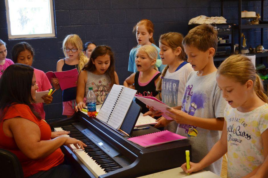 """Princess Whatsername"" cast in singing rehearsal."