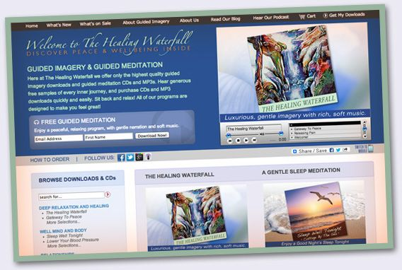 Guided Imagery Has A New Look at The Healing Waterfall