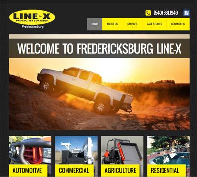 Line-X of Fredericksburg New Website