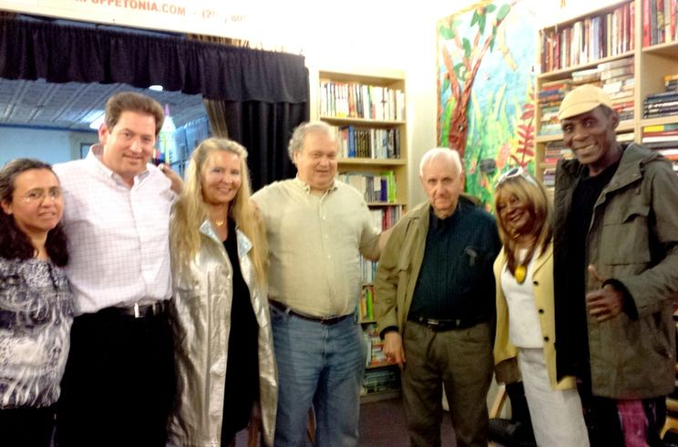 Mrs. & John Bredin (L), Luarel M. Sturt, guests, Michael Anthony Pegues (R)