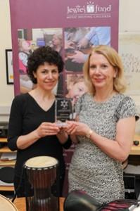 Lesley Schatzberger, Jessie's Fund (left) and Karen McCormick, Care UK (right).