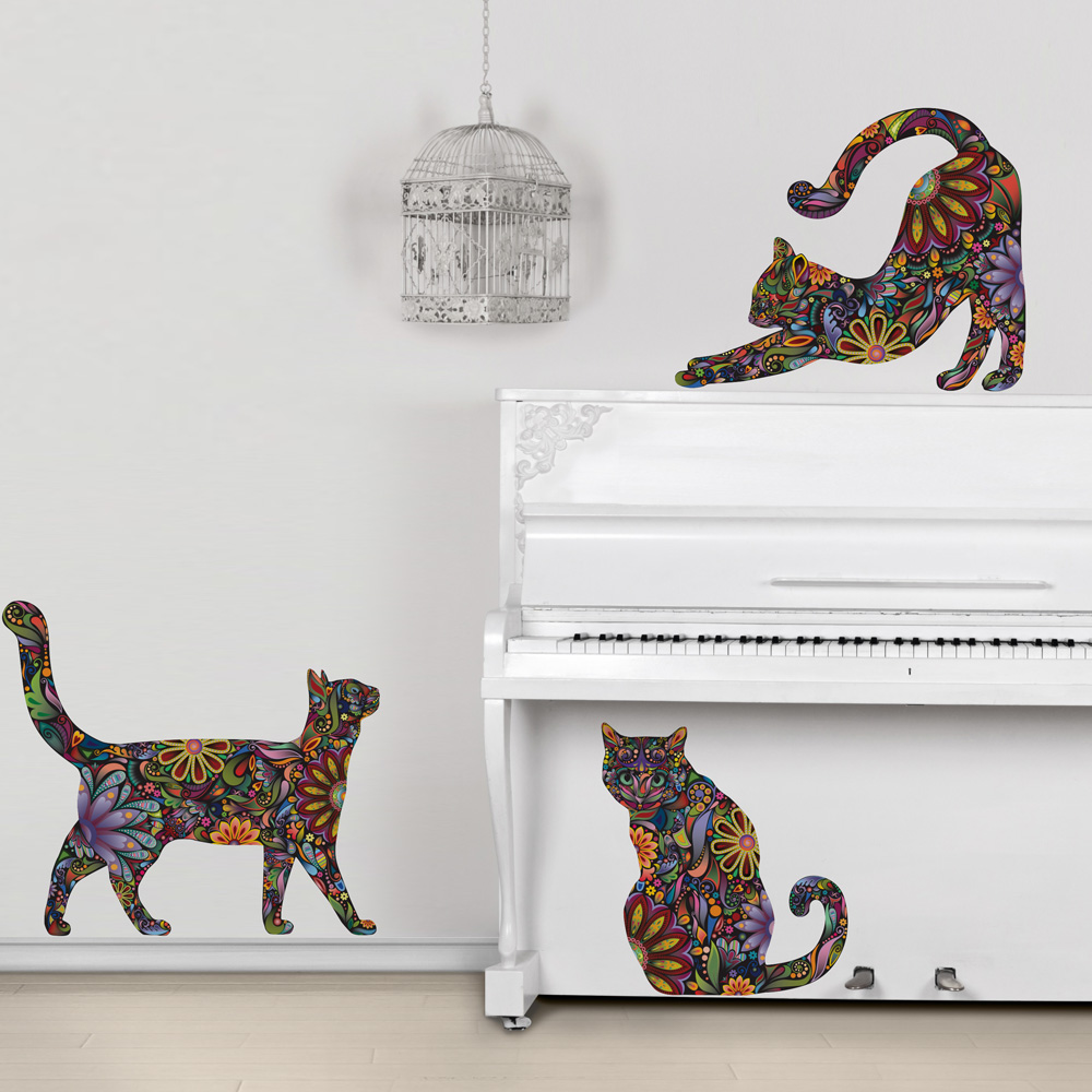 my wonderful walls room mural products including new cat. Black Bedroom Furniture Sets. Home Design Ideas