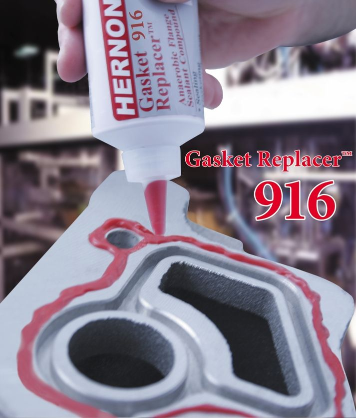 Hernon Manufacturings' Gasket Replacer 916 creates a seal on a seal.
