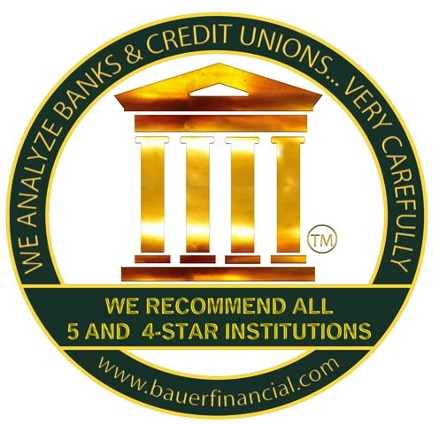 Reunion Bank of Florida has earned a Bauer 5 Star rating.