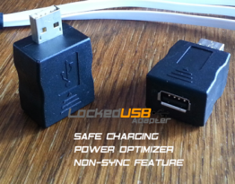 LockedUSB Adapter - USB Charger Firewall and Power Optimizer