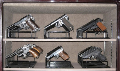48 handguns on 6 Armory Racks