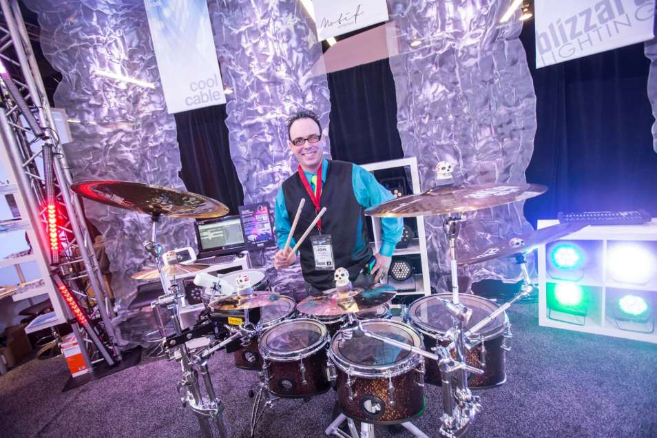 John Donovan performing at Winter NAMM - Photo Provided by: Mapex USA