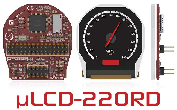 4D Systems introduces a ROUND LCD intelligent display module