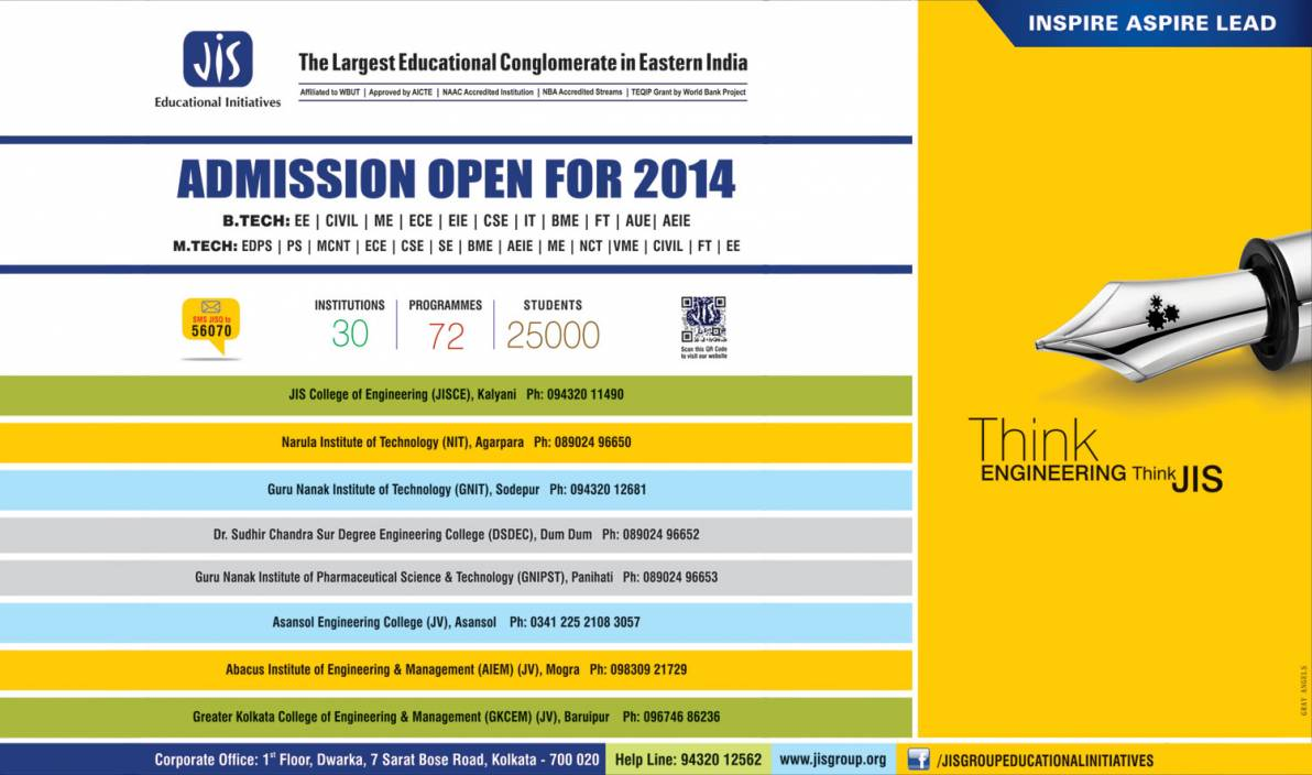 Admissions open for 2014 at JIS Group