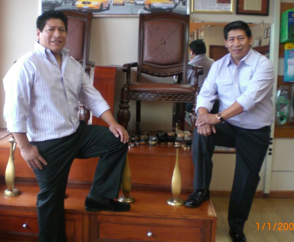 Shoe Service Plaza Co-owners Felipe and Fausto Guamantari
