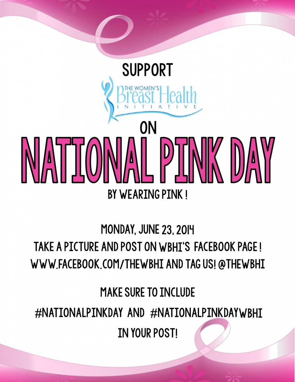 By wearing pink on June 23, you can help raise awareness of the day.