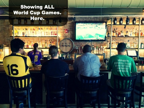 ALL World Cup Games shown at Growlers Pourhouse in Charlotte, NC