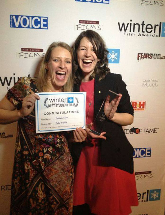 2015 Best Student Film Winner Julia Walter & BestActress Nominee Stefanie VonPos