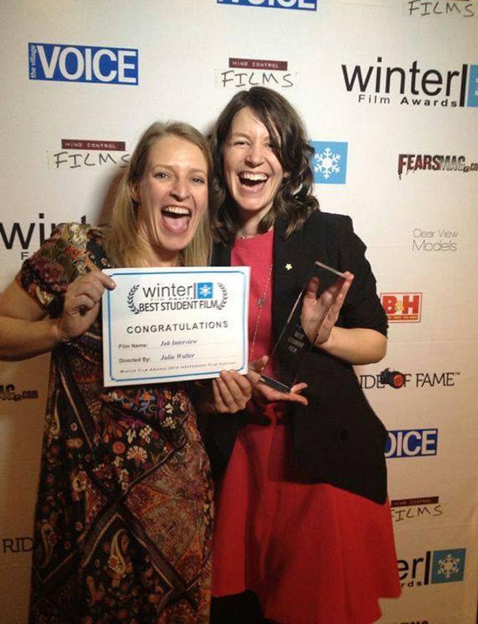 2015 Best Student Film Winner Julia Walter & BestActress Nominee Stefanie VonPos