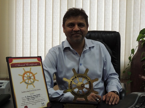 CEO Harry Gandhi with the Award and Certificate