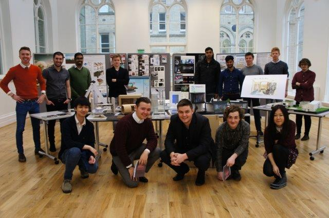 Nottingham Trent University architecture students show off their work