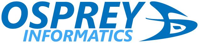 logo and name blue on white
