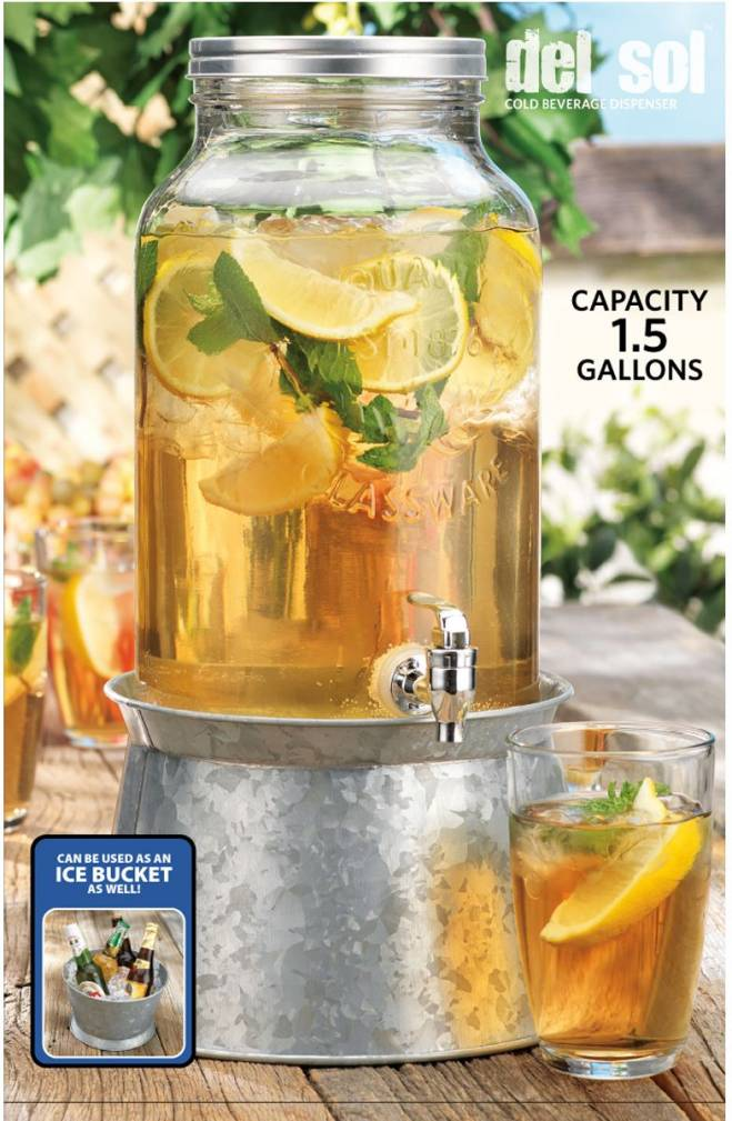 Galvanized Metal Beverage Dispenser