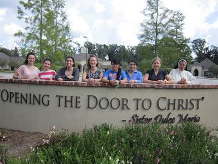 Seven young ladies joined us for our last Come and See retreat.