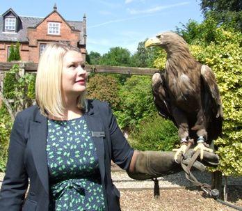 Stephanie Clowes with an Eagle