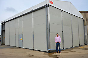 Smart Space temporary building at APS Salads.