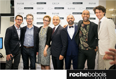 Roche Bobois principals and guest designer at Madison Ave. showroom celebration