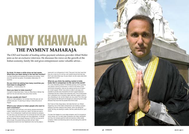 Andy Khawaja in June 2014 Start Your Business Arabia Magazine