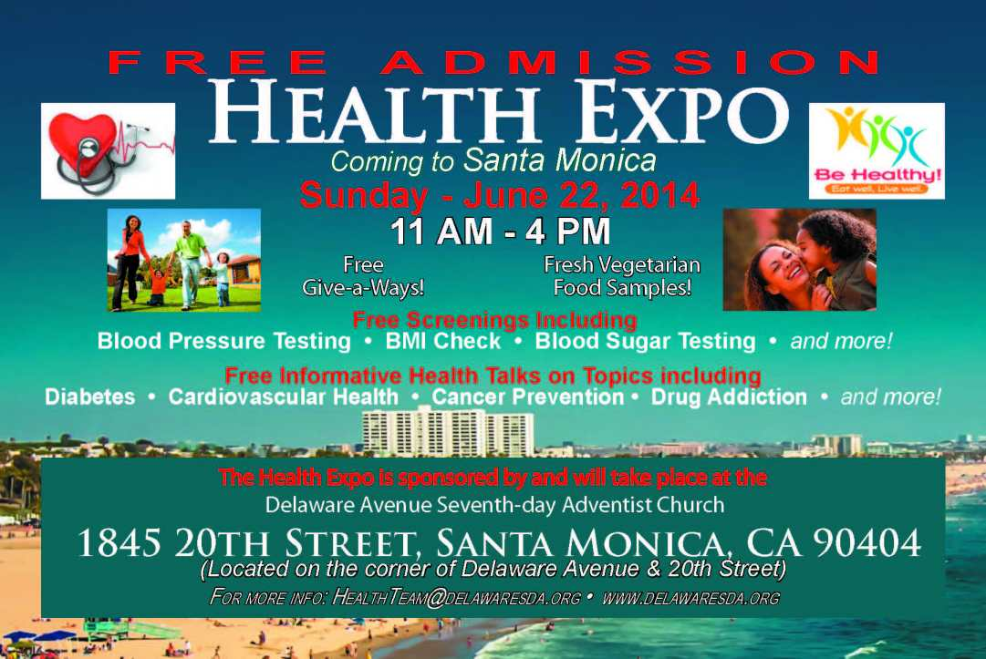 Delaware Ave SDA Church Health Expo Sunday, June 22, 2014 from 11am to 4pm