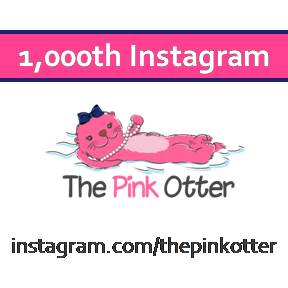 Over 1,000 People Have Followed The Pink Otter on Instagram.