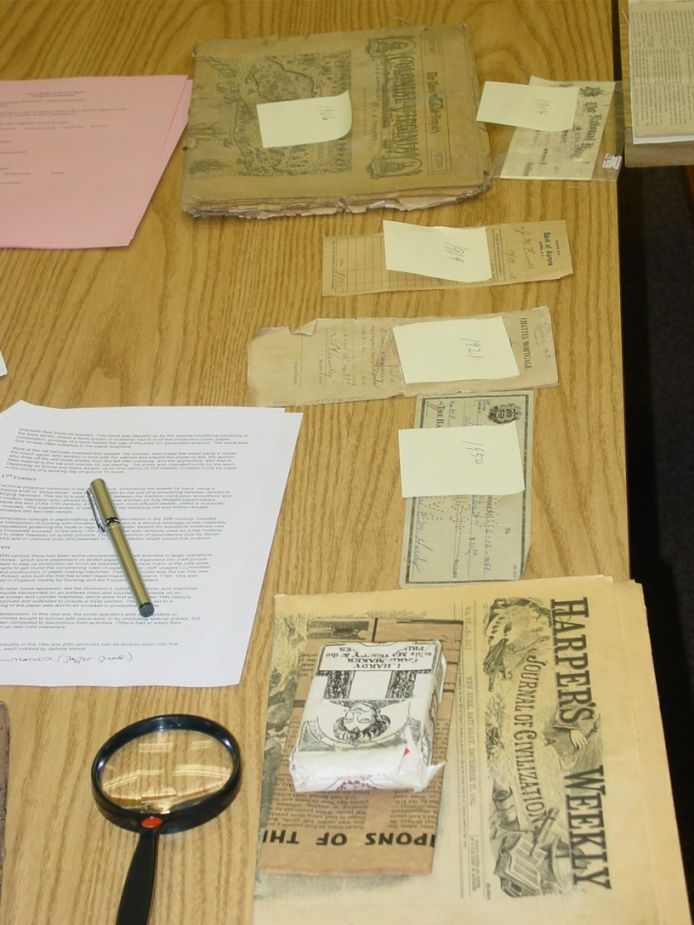 Old documents need special care for preservation