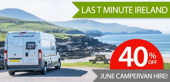 Save 40% on last minute June campervan hire in Ireland from Bunk Campers