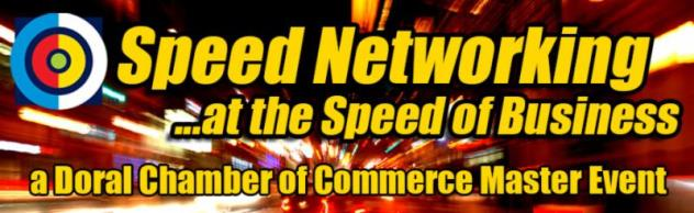 SPEED NETWORKING EVENT @ THE SPEED OF BUSINESS | July 9th