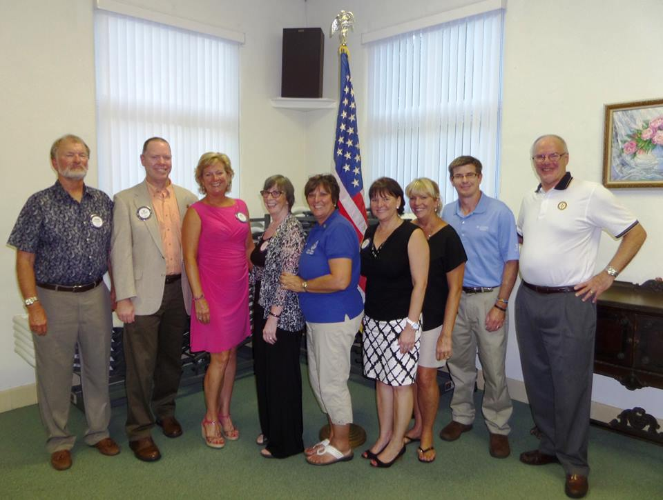 Flagler Beach Rotary Installation of officers and directors.