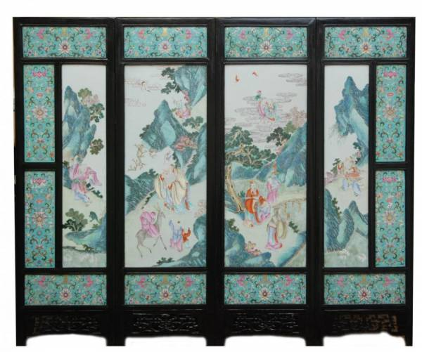 This large and important 19th century Chinese porcelain screen brought $126,900.