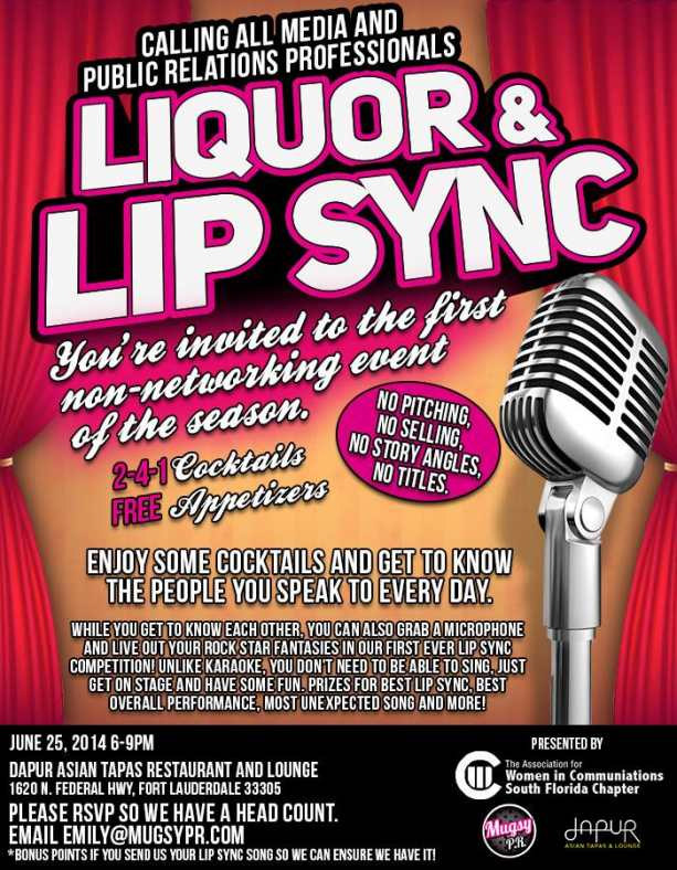 Liquor and Lip Sync - A NON-NETWORKING Event for PR and Media Professionals