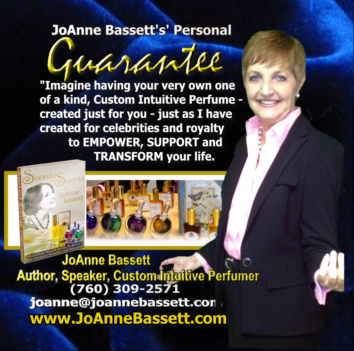 JoAnne Bassett, Custom Bespoke Natural Perfumer, Author, Teacher, Speaker