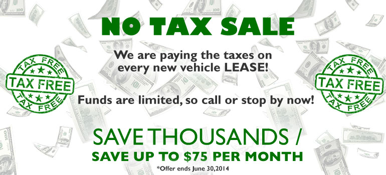 No Tax Sale Offer at Diepholz Auto Group