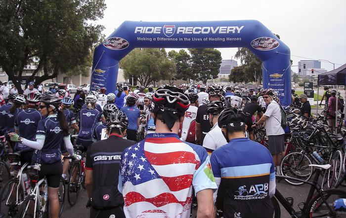 2013 Ride 2 Recovery Starting Line at A Road BIke 4 You in Irvine, OC, CA