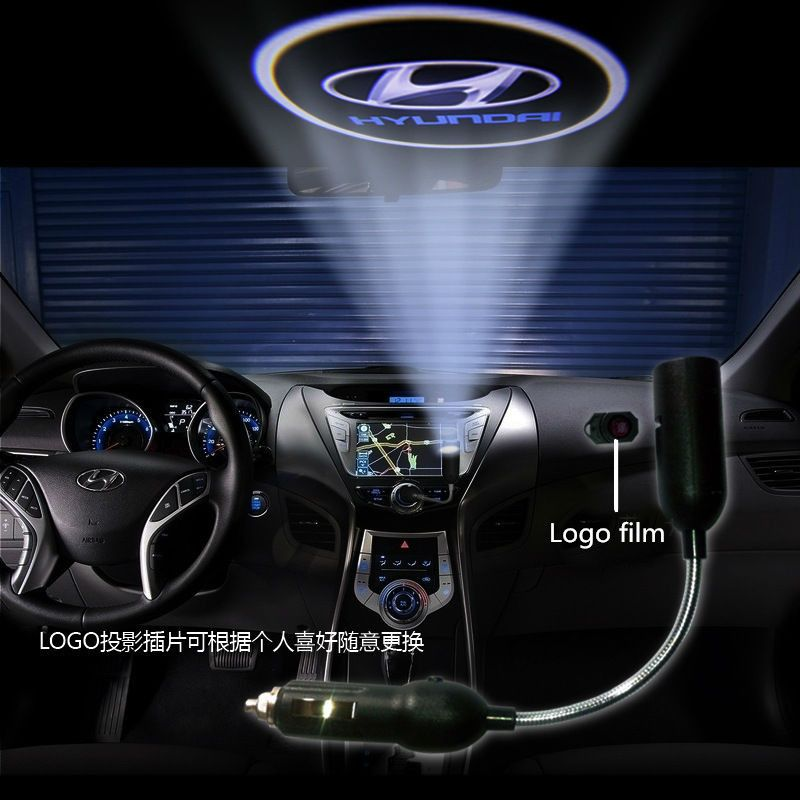 Led Car Roof Logo Projector Lamps Custom Logo Available