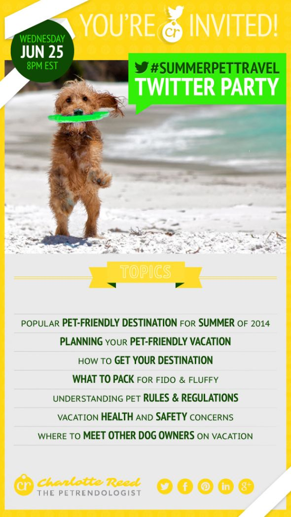 #SummerPetTravel Twitter Party