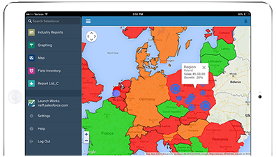 LaunchPortal and CMaps Analytics in Salesforce1 App