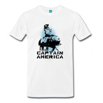 Spreadshirt Cpt America sprayed men