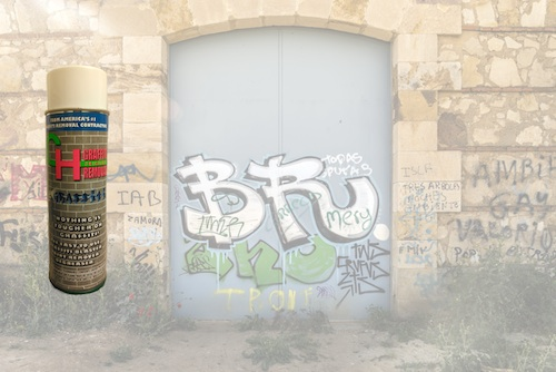 CH Graffiti Removal Patented Spray Easily Eliminates Unwanted Paint & Ink