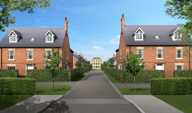Scraptoft Hall - artists impression of some of the Davidsons Homes