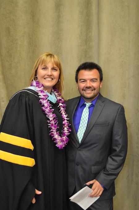 Principal Dana Abplanalp-Diggs and Teacher of the Year Honoree John Rubio
