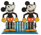 Wilhelm Krauss (Germany) Mickey Mouse Double Slate Dancer, tin, one of two known