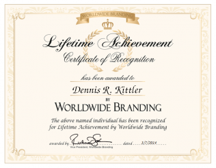 Dennis R. Kittler Lifetime Achievement Award